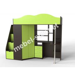 Двухъярусная кровать чердак ДМ 37А