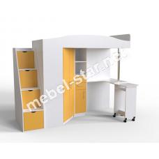 Двухъярусная кровать чердак ДМ 412