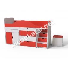 Детская кровать чердак ДМО 37А
