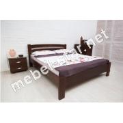 Двуспальная, односпальная кровать из бука Милана люкс