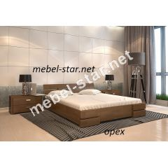 Двуспальная, полуторная кровать из дерева Дали