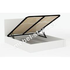 Двуспальная кровать с механизмом Милан дерево