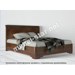 Двуспальная кровать из дерева Милена  бук