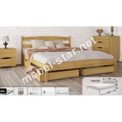 Односпальная, двухспальная кровать с ящиками  Лика бук