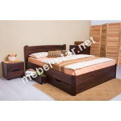 Полуторная, двуспальная кровать София V бук с ящиками
