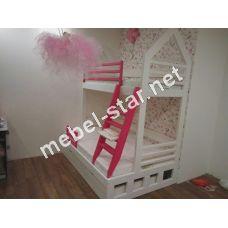 Двухъярусная трехместная  кровать Джули