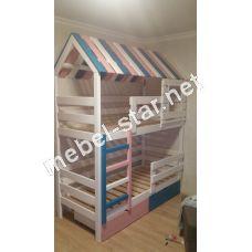 Двухъярусная кровать домик Марк
