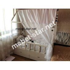 Детская кровать домик ясень
