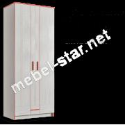 Шкаф платяной Рио 2Д1Ш