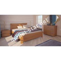 Односпальная, двуспальная кровать Марсель ясень