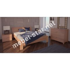 Односпальная, двуспальная кровать Орландо ясень
