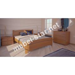 Односпальная, двуспальная кровать Сидней 2 ясень