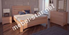 Односпальная, двуспальная кровать Сидней 3 ясень