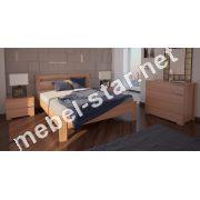 Односпальная, двуспальная кровать Вена ясень
