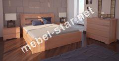 Односпальная, двуспалная кровать Лондон с механизмом ясень
