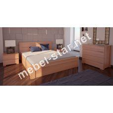 Односпальная, двуспальная кровать Орландо с механизмом ясень