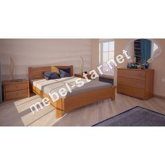 Односпальная, двуспальная кровать Сидней ясень