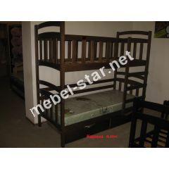 Двухъярусная кровать из дерева Карина плюс