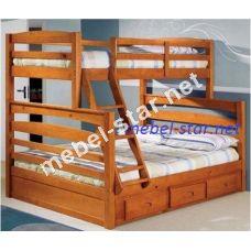 Двухъярусная трехместная  кровать Трио