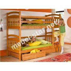 Двухъярусная кровать из дерева Ирис