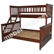 Двухъярусная трехместная кровать Рита цена с ящиками