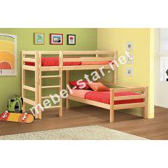 Двухъярусная кровать из дерева Мезонин