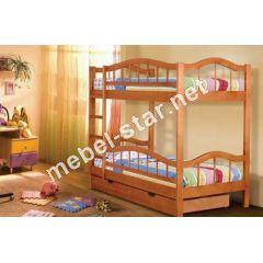 Деревянная двухъярусная кровать Маркус
