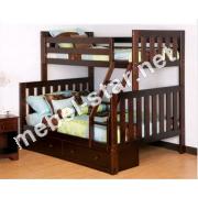 Двухъярусная трехместная кровать Шоколад