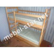 Двухъярусная кровать трансформер из  дерева Саша