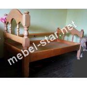 Детская, подостковая кровать из  дерева Точеная