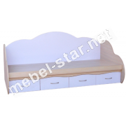 Односпальная кровать с ящиками Яся