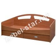 Односпальная кровать с ящиками Офелия