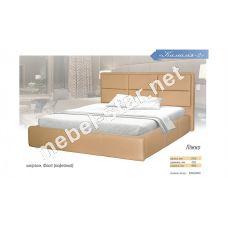 Двуспальная  кровать из кожзама Камалия