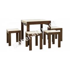 Раскладной кухонный стол Твист и табуретки