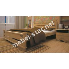 Двуспальная, односпальная деревянная кровать Атлант 1