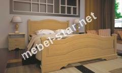 Двуспальная, односпальная деревянная кровать Атлант 15