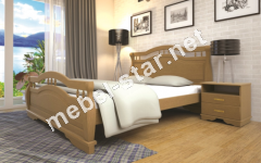Двуспальная, односпальная деревянная кровать Атлант 22