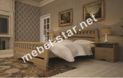 Двуспальная, односпальная деревянная кровать Атлант 4