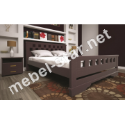 Двуспальная, односпальная деревянная кровать Атлант 9