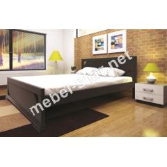 Двуспальная, односпальная деревянная кровать Элегант 1