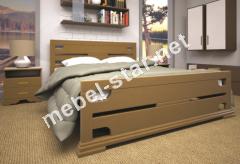 Двуспальная, односпальная деревянная кровать Элегант 4