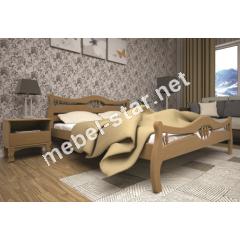 Двуспальная, односпальная деревянная кровать Корона 2