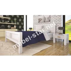 Двуспальная, односпальная деревянная кровать Модерн 8