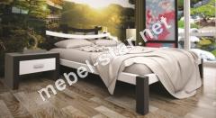 Двуспальная, односпальная деревянная кровать Сакура 2