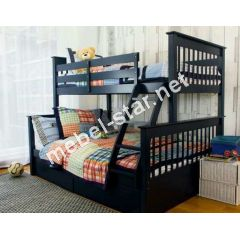 Двухъярусная трехместная  кровать Оливер