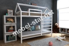Двухъярусная кровать домик Джина