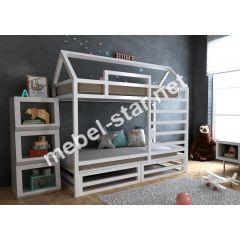 Двухъярусная кровать домик Джулия