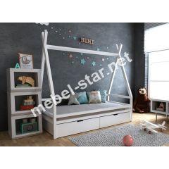 Детская кровать домик Моана с ящиками