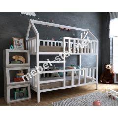 Двухъярусная кровать домик Молли