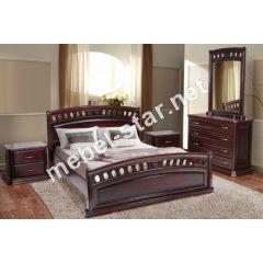 Двуспальная кровать из массива дуба Флоренция